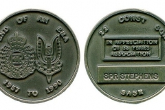 1990-Medallion-presented-by-CO-SAS-Regiment