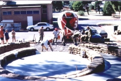 1999-Pouring-concrete-to-flont-of-Memorial