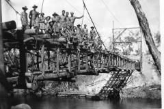 1944-3-Sect-building-a-suspension-bridge-in-Jacquinot-Bay-area